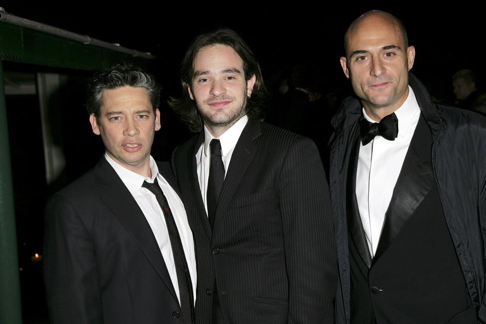 Dexter Fletcher, Charlie Cox and Mark Strong at the after party of