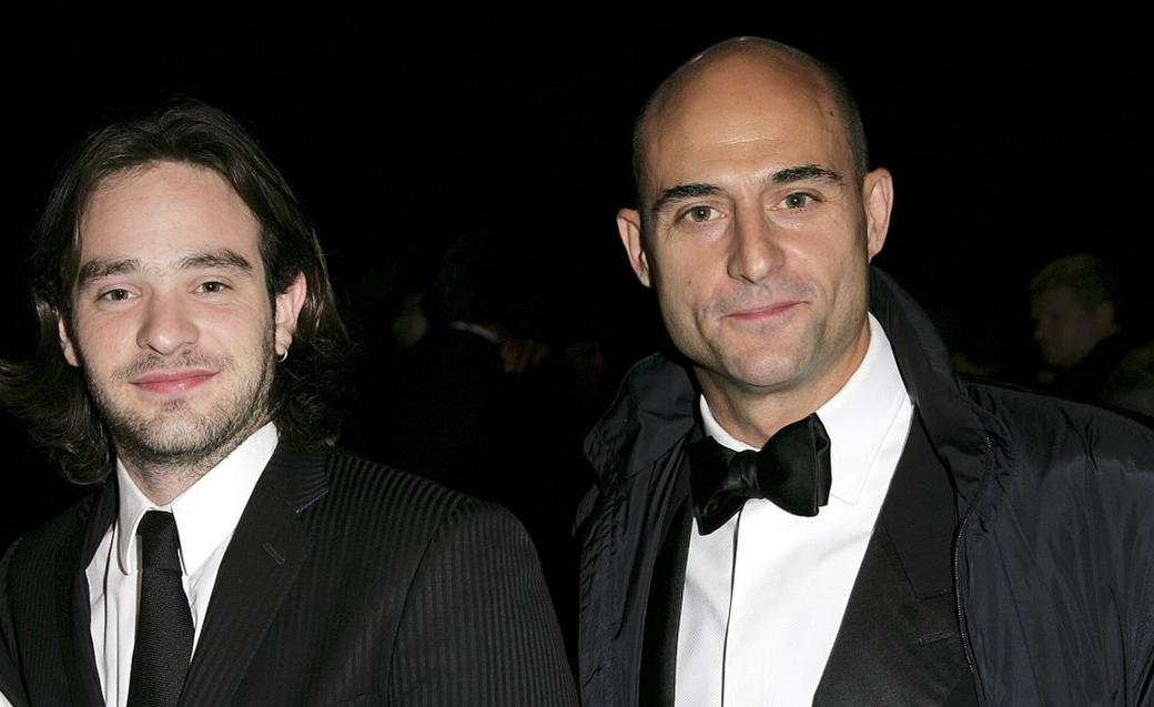 Charlie Cox and Mark Strong at the after party of