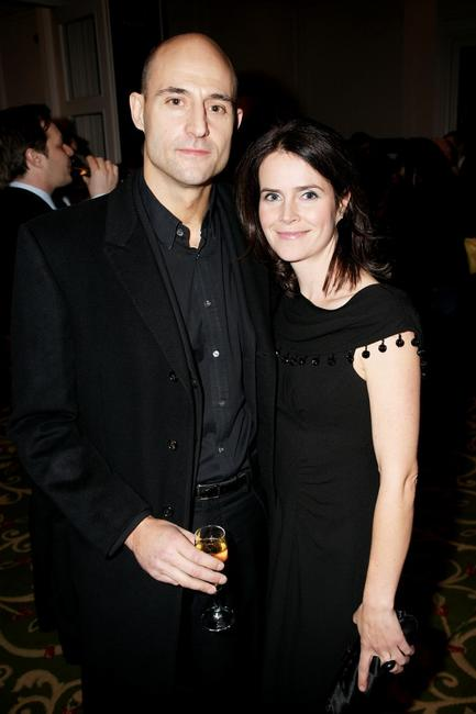 Mark Strong and Guest at the London Critics Circle Film Awards 2009.