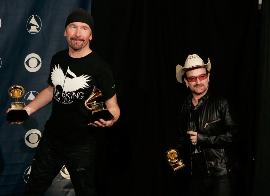 The Edge and Bono at the 48th Annual Grammy Awards.