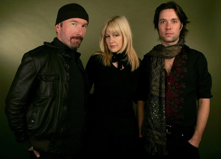 The Edge, Director Lian Lunson and Rufus Wainwright at the 2006 Sundance Film Festival.