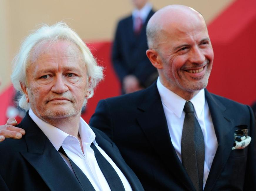 Niels Arestrup and Jacques Audiard at the screening of