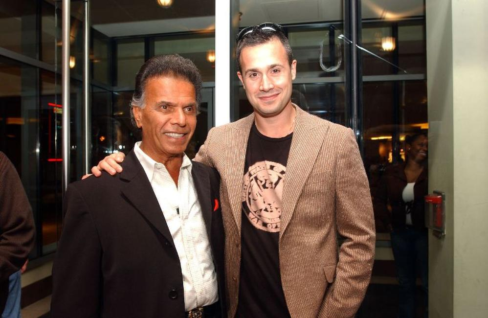 Nassiri and Freddie Prinze, Jr. at the Boston Film Festival.