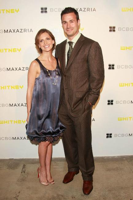 Sarah Michelle Gellar and Freddie Prinze, Jr. at the fifth Annual Art party celebrating the Whitney Museum of American Art.