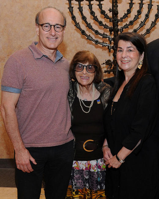 Peter Friedman, Anna Berger and director Aviva Kempner at the evening in honor of Philip Loeb in New York.