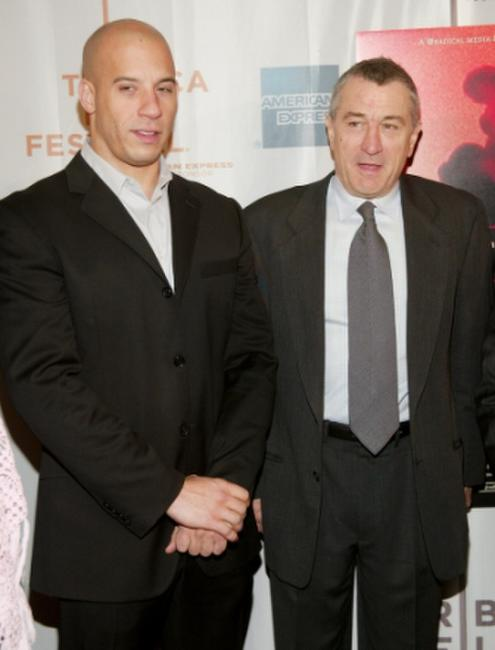 Vin Diesel and Robert De Niro at the screening of