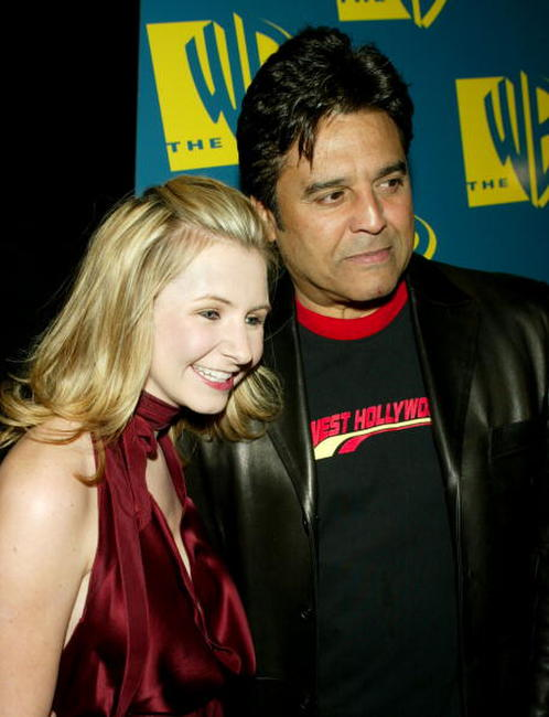 Beverly Mitchell and Erik Estrada at the WB Networks 2004 All-Star Winter Party.