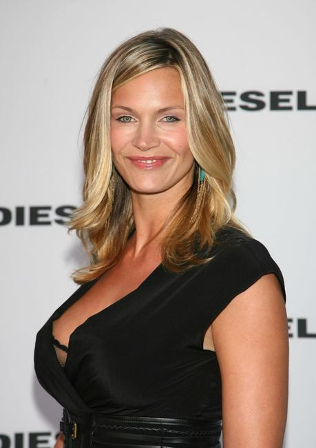 Natasha Henstridge at the Opening of the Melrose Place Diesel Store.