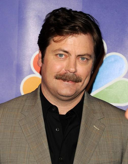 Nick Offerman at the 2010 NBC Upfront presentation.