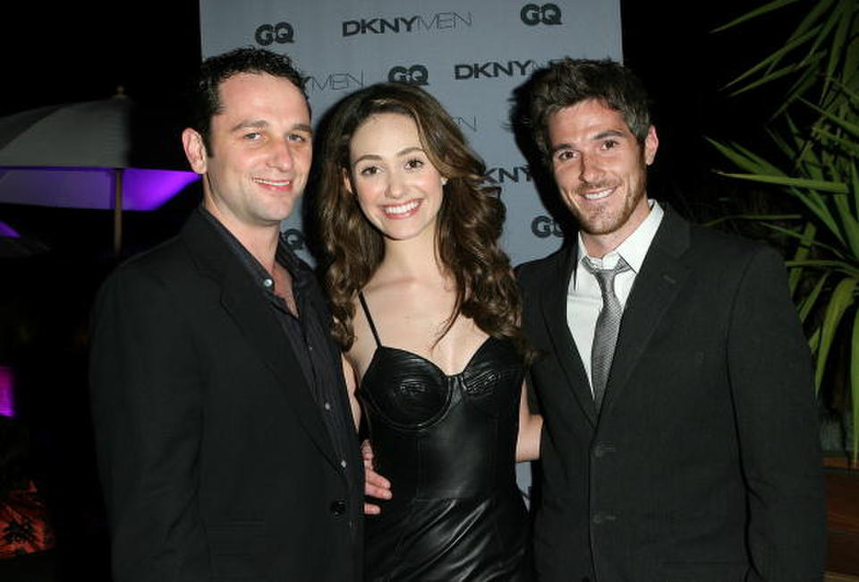 Matthew Rhys, Emmy Rossum and Dave Annable at the DKNY Men VIP Dinner and After Party for the 2008 GQ Luxe Lounge.
