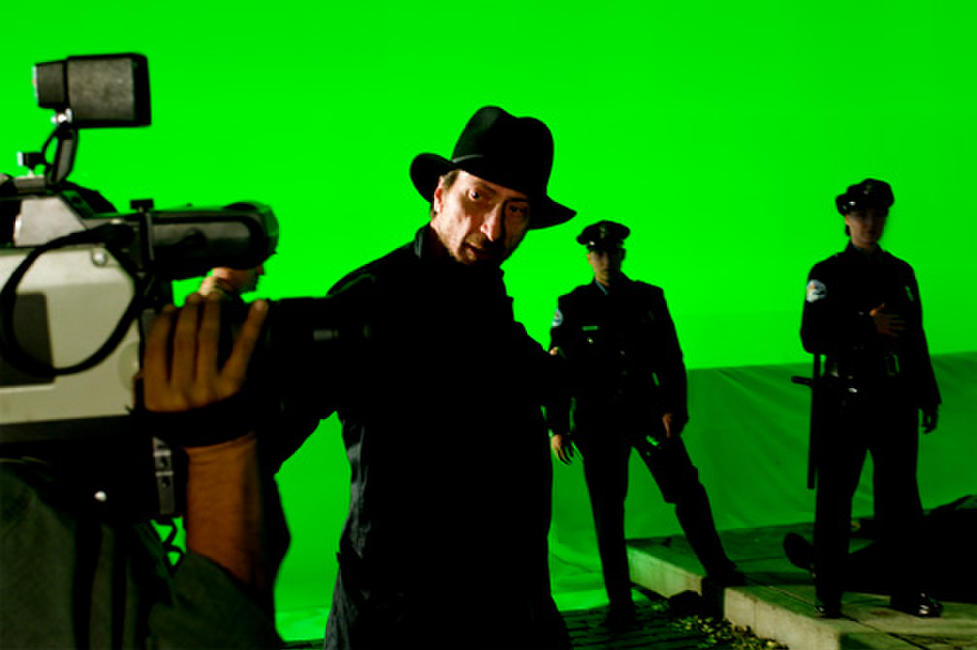 Director-Writer Frank Miller on the set of