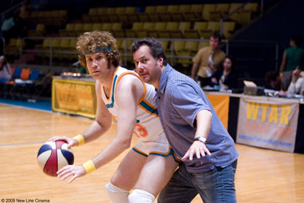 Will Ferrell and director Kent Alterman on the set of