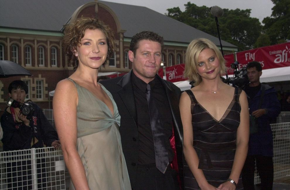 Anita Hegh, Peter Phelps and Sophie Lee at the Emirates AFI Awards 2000.