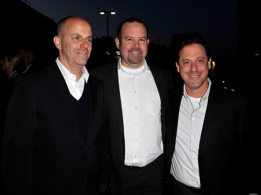 Neal H. Moritz, Marc Shmuger and Adam Fogelson at the premiere of