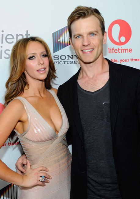Jennifer Love Hewitt and Trevor St. John at the red carpet launch party of