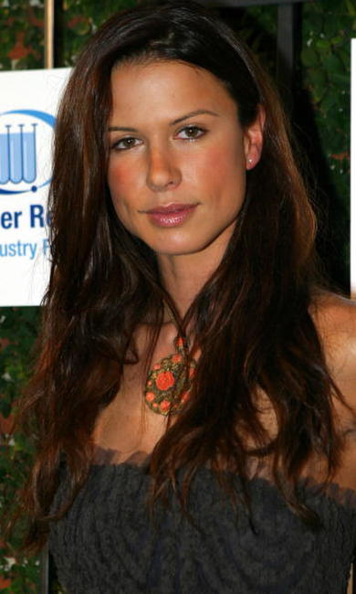 Rhona Mitra at the the Saks Fifth Avenue