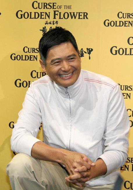 Chow Yun-Fat at the Singapore promote the latest film