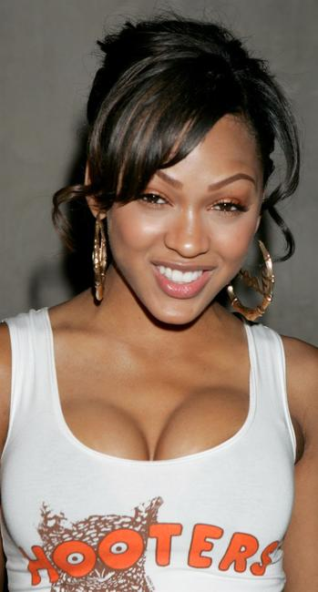 Meagan Good at the Halloween Mansion Party.