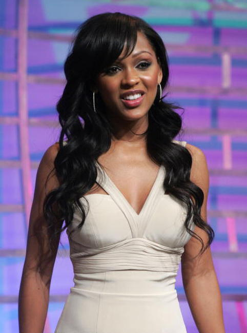 Meagan Good at the BET's 106th and Park.