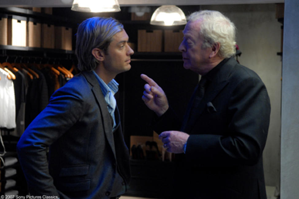 Jude Law and Michael Caine in