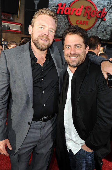 Directors Joe Carnahan and Brett Ratner at the California premiere of