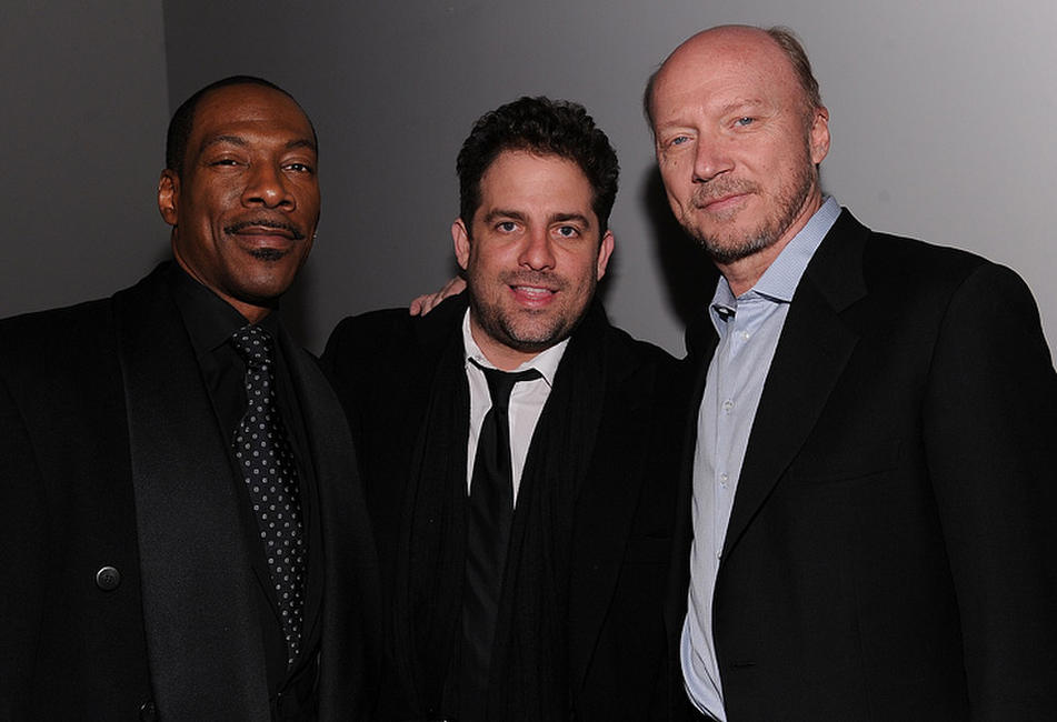 Eddie Murphy, Brett Ratner and Paul Haggis at the HELP HAITI benefiting The Ben Stiller Foundation and The J/P Haitian Relief Organization in New York.