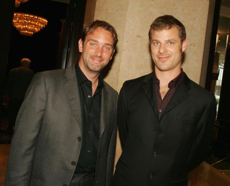Trey Parker and Matt Stone at the ACLU Foundation's Annual Torch of Liberty Awards Dinner.