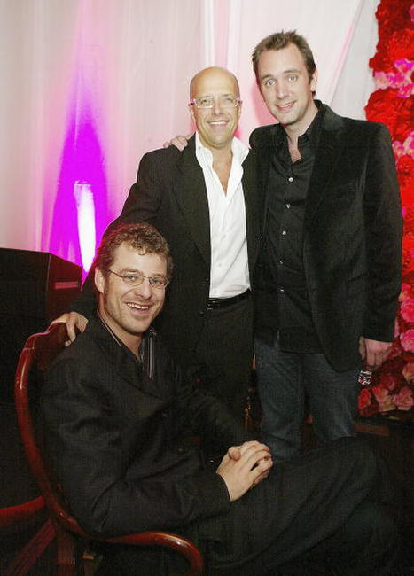 Matt Stone, Donald De Line and Trey Parker at the after party of the premiere of