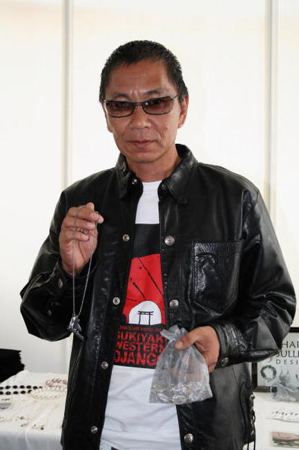 Takashi Miike at the DPA Venice 2007 Gift Lounge.