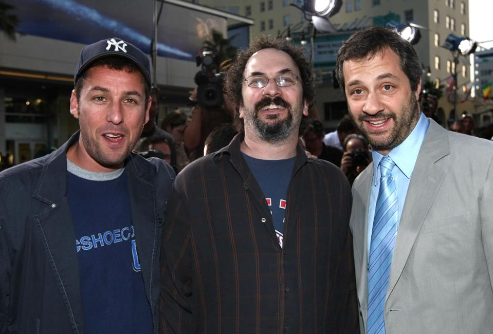 Adam Sandler, Robert Smigel and Jud Apatow at the premiere of
