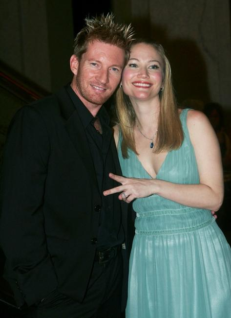 David Wenham and Sarah Wynter at the premiere of