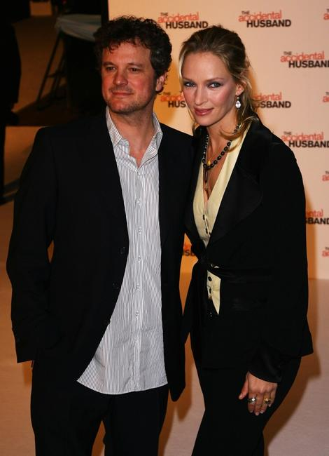 Colin Firth and Uma Thurman at the UK premiere of