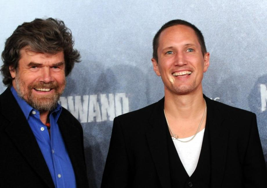 Reinhold Messner and Benno Furmann at the premiere of