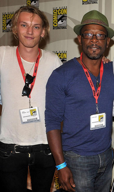 Jamie Campbell Bower and Lennie James at the Comic-Con 2009