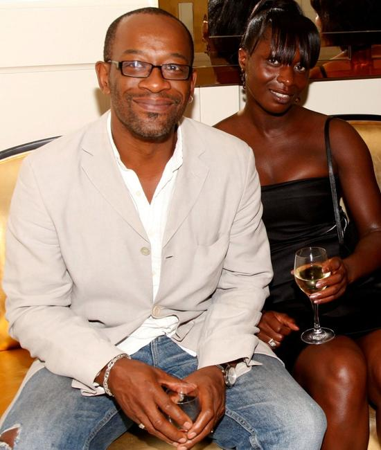 Lennie James and producer Rita Osei at the UK Film Council US