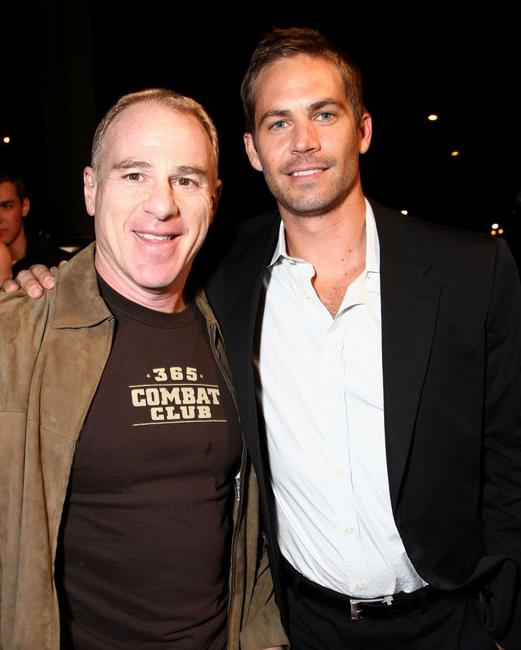 Producer David Zelon and Paul Walker at the premiere of