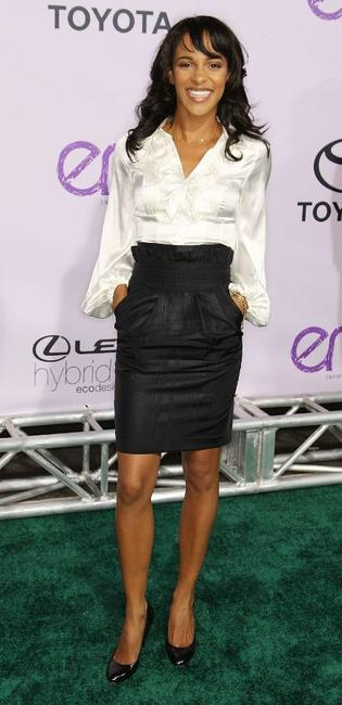 Megalyn Echikunwoke at the 18th Annual Environmental Media Awards.
