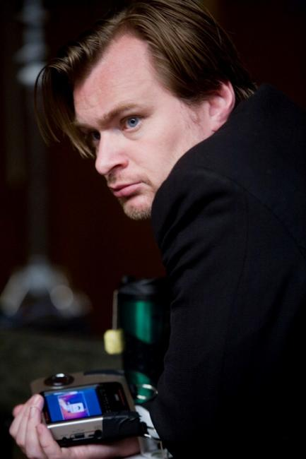Director Christopher Nolan on the set