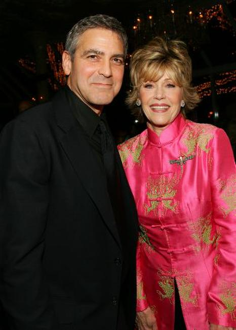 Jane Fonda and George Clooney at the 2005 National Board of Review of Motion Pictures Awards ceremony.