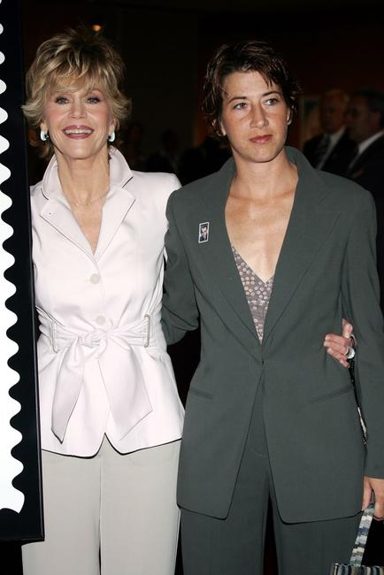 Jane Fonda and her daughter Vanessa Vadim at the Henry Fonda Centennial Celebration and the US Postal service first-day-of-issue ceremony.