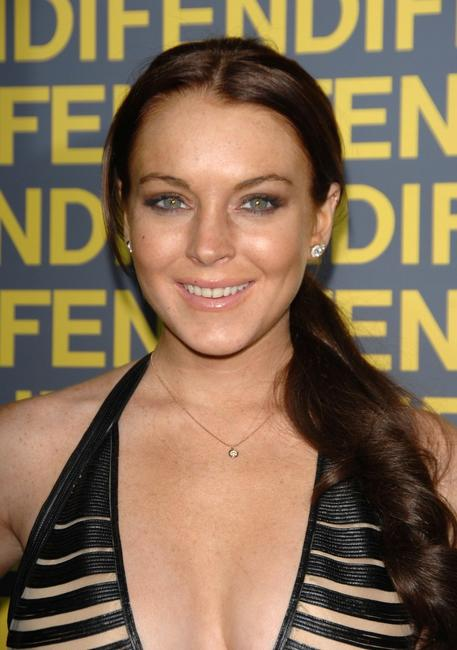 Lindsay Lohan at the Fendi celebration of the redesign of its Rodeo Drive flagship store.