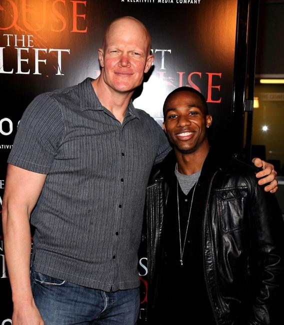 Derek Mears and Arlen Escarpeta at the premiere of