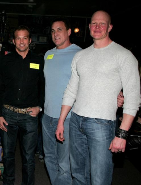 Warrington Gillette, C.J. Graham and Derek Mears at the Anchor Bay Entertainment's Jason Voorhees reunion.