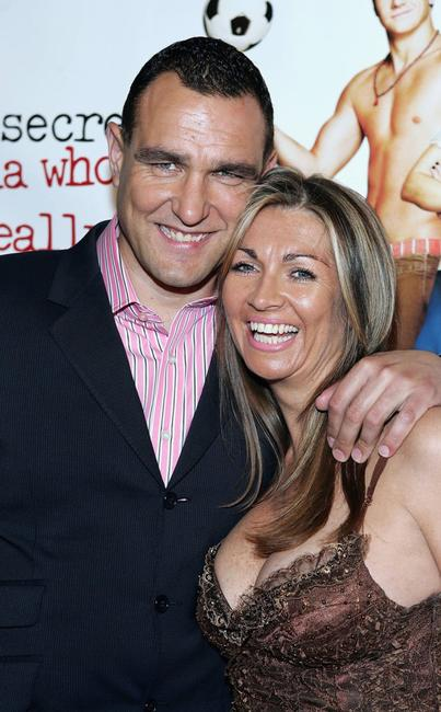 Vinnie Jones and Tanya Jones at the premiere of