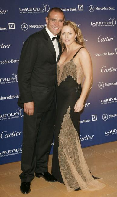 Vinnie Jones and Patsy Kensit at the Laureus 2003 World Sport Awards.