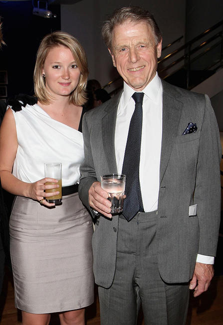 Edward Fox and Guest at the UK premiere of