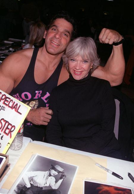 Lou Ferrigno and Anne Francis at the Hollywood Collectors and Celebrity Show.