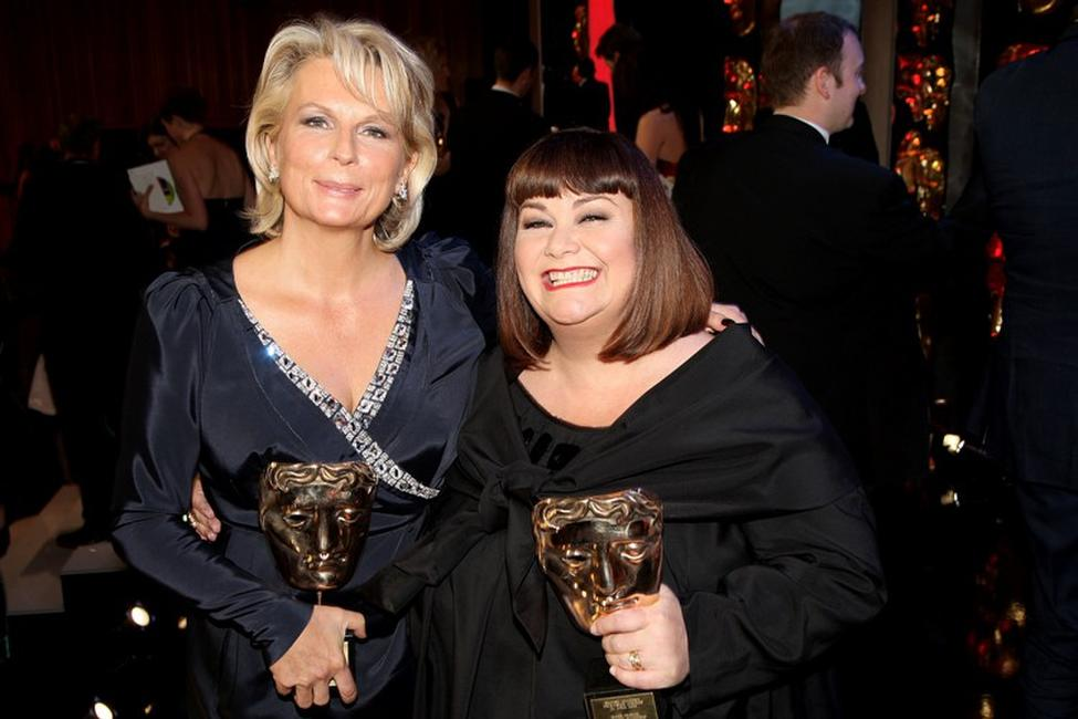 Jennifer Saunders and Dawn French at the BAFTA Television Awards 2009.