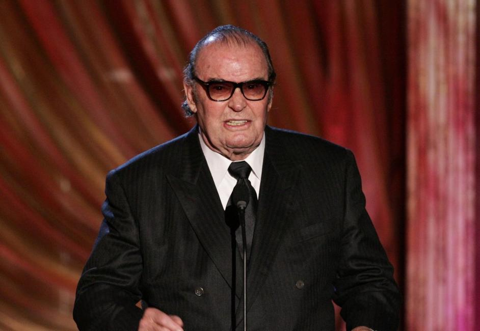 James Garner at the Paddy Chayefsky Television Laurel award onstage during the 2006 Writers Guild Awards.