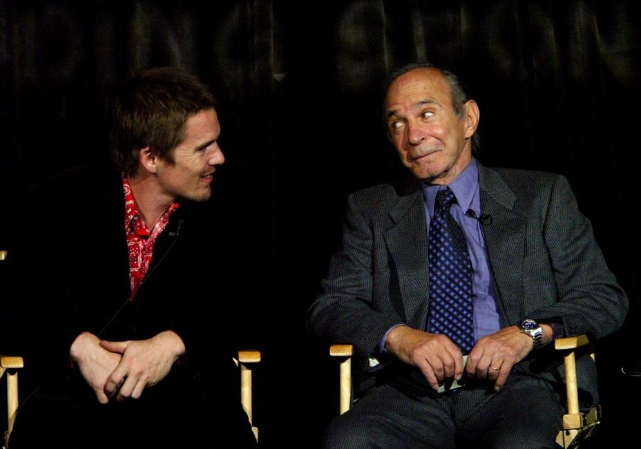 Ben Gazzara and Ethan Hawke at the Lit By Lightning: Tennessee Williams Today panel at Tribeca Theater Festival.